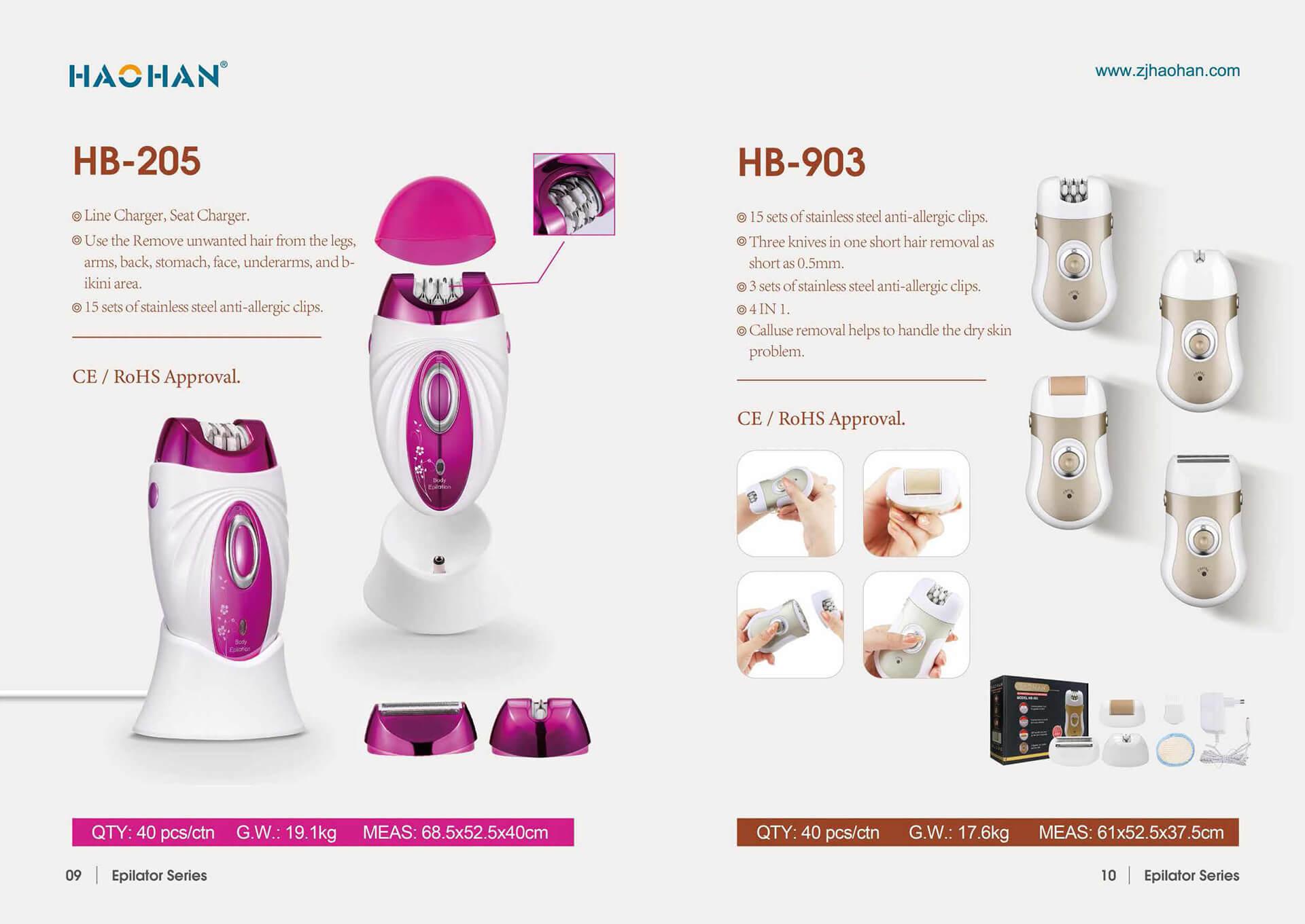1631849264 Electric Epilator 3 Zhejiang Haohan