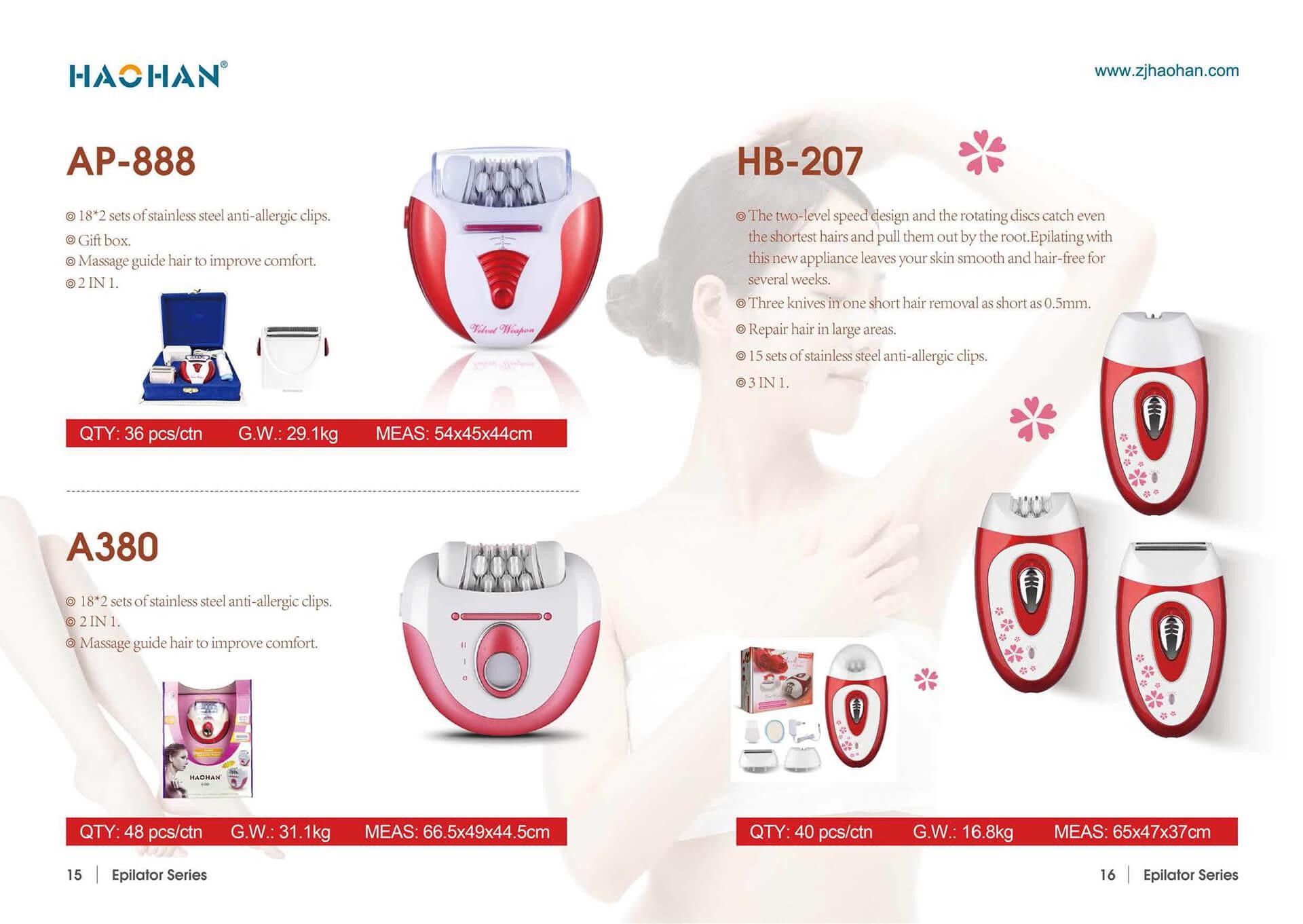 1631849289 Electric Epilator 6 Zhejiang Haohan